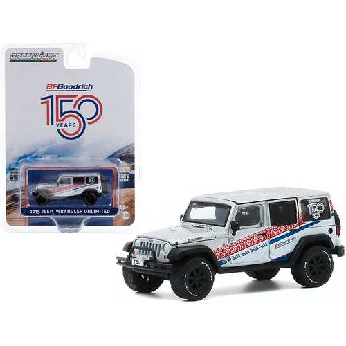 """2015 Jeep Wrangler Unlimited White """"BFGoodrich 150th Anniversary"""" """"Anniversary Collection"""" Series 11 1/64 Diecast Model Car by Greenlight"""