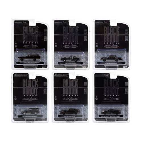 """Black Bandit"" 6 piece Set Series 24 1/64 Diecast Model Cars by Greenlight"