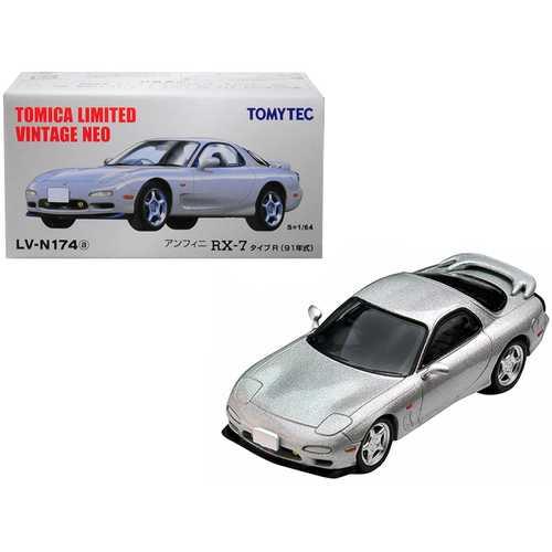 1991 Mazda Efini RX-7 Type R RHD (Right Hand Drive) Metallic Silver 1/64 Diecast Model Car by TomyTec