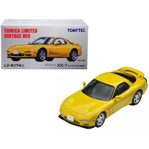 1991 Mazda Efini RX-7 Type R RHD (Right Hand Drive) Yellow 1/64 Diecast Model Car by TomyTec