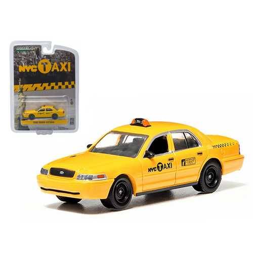 Ford Crown Victoria New York City Taxi (NYC) Greenlight Exclusive 1/64 Diecast Model Car by Greenlight