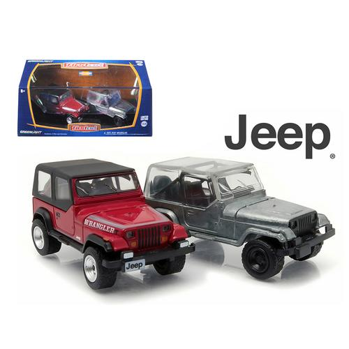 1987-95 Jeep Wrangler YJ Hobby Only Exclusive 2 Cars Set 1/64 Diecast Model Cars by Greenlight