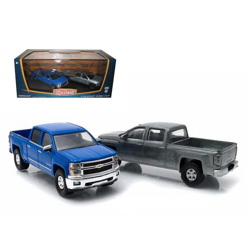 First Cut 2014 Chevrolet Silverado Pickup Trucks Hobby Only Exclusive 2 Cars Set 1/64 Diecast Models by Greenlight