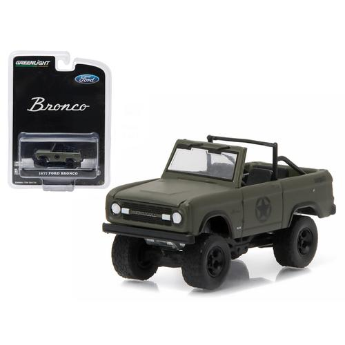 """1977 Ford Bronco Military Tribute """"Sarge 77"""" Hobby Exclusive 1/64 Diecast Model Car by Greenlight"""