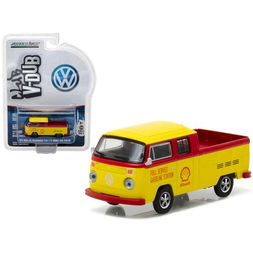 1976 Volkswagen Type 2 T2 Crew Cab Pickup Shell Oil 1/64 Diecast Model  by Greenlight