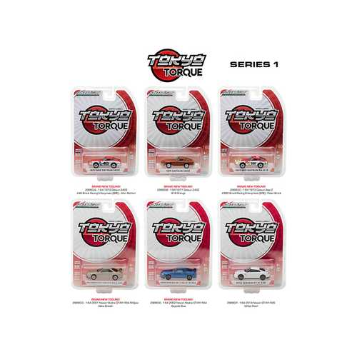 Tokyo Torque Series  / Release 1, 6pc Set 1/64 Diecast Model Cars by Greenlight