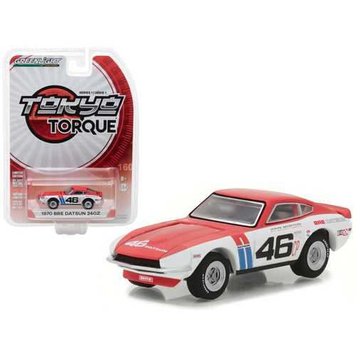 1970 Datsun 240Z #46 Brock Racing Enterprises (BRE) John Morton Tokyo Torque Series 1 1/64 Diecast Model Car by Greenlight