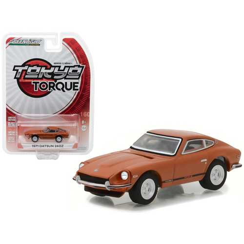 1971 Datsun 240Z 918 Orange Tokyo Torque Series 1 1/64 Diecast Model Car by Greenlight