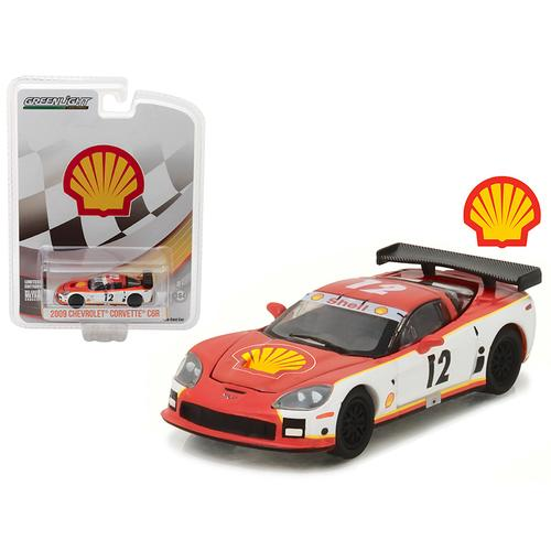 2009 Chevrolet Corvette C6R Shell Oil Hobby Exclusive 1/64 Diecast Model Car by Greenlight