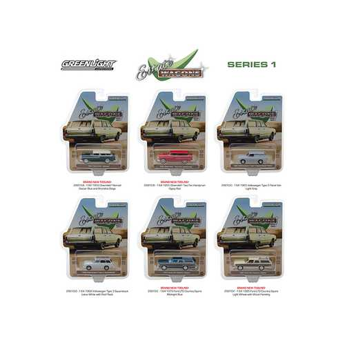 Estate Wagons Series 1, Set of 6 Cars 1/64 Diecast Models by Greenlight