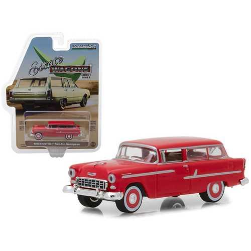 "1955 Chevrolet Two-Ten Handyman Gypsy Red ""Estate Wagons"" Series 1 1/64 Diecast Model Car by Greenlight"
