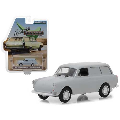"1965 Volkswagen Type 3 Squareback Panel Light Gray ""Estate Wagons"" Series 1 1/64 Diecast Model Car by Greenlight"