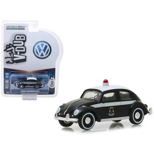 "Classic Volkswagen Beetle (Saint John, New Brunswick) Canada Police Black and White ""Vee Dub"" Series 8 1/64 Diecast Model Car by Greenlight"