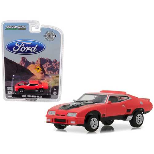 1973 Ford Falcon XB Red Pepper with Black Stripe Hobby Exclusive 1/64 Diecast Car Model by Greenlight