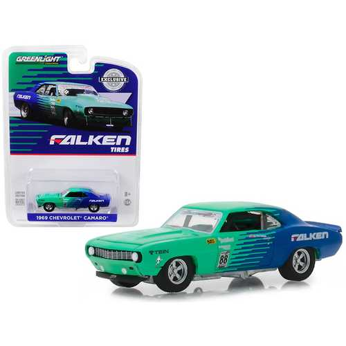 "1969 Chevrolet Camaro #88 ""Falken Tires"" ""Hobby Exclusive"" 1/64 Diecast Model Car by Greenlight"
