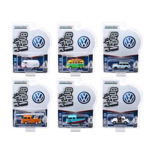 """Club Vee V-Dub"" Series 9, 6 piece Set 1/64 Diecast Model Cars by Greenlight"