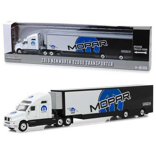 "2018 Kenworth T2000 ""MOPAR"" Transporter ""Hobby Exclusive"" 1/64 Diecast Model by Greenlight"
