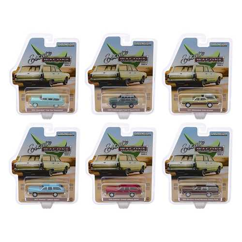 """Estate Wagons"" Series 4, 6 piece Set 1/64 Diecast Model Cars by Greenlight"