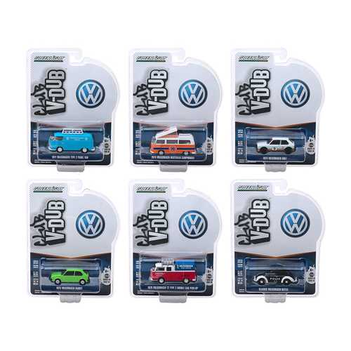 """Club Vee V-Dub"" Series 10, 6 piece Set 1/64 Diecast Model Cars by Greenlight"