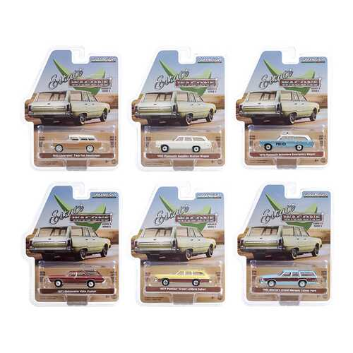"""""""Estate Wagons"""" 6 piece Set Series 5 1/64 Diecast Model Cars by Greenlight"""