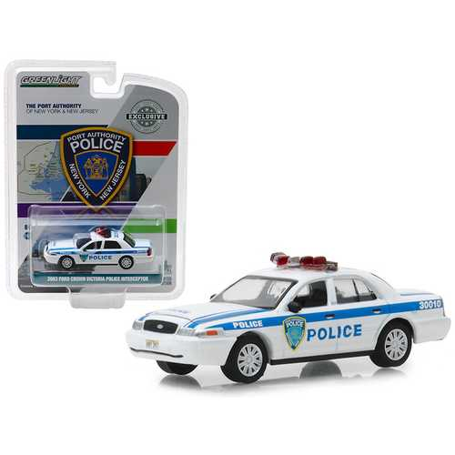 """2003 Ford Crown Victoria Police Interceptor Port Authority of New York & New Jersey Police """"Hobby Exclusive"""" 1/64 Diecast Model Car by Greenlight"""
