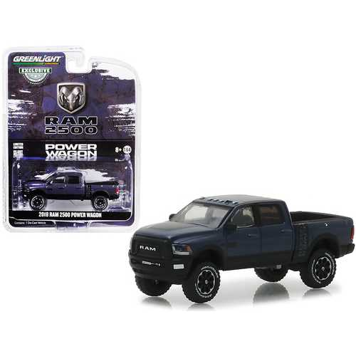 "2018 Dodge Ram 2500 Power Wagon Pickup Truck Metallic Dark Purple ""Hobby Exclusive"" 1/64 Diecast Model Car by Greenlight"