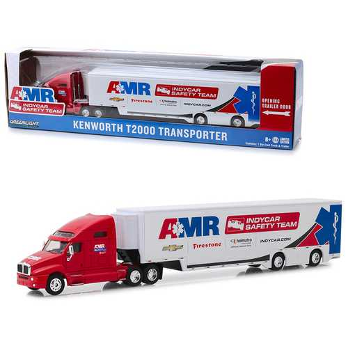 "Kenworth T2000 Transporter AMR IndyCar Safety Team ""Hobby Exclusive"" 1/64 Diecast Model by Greenlight"