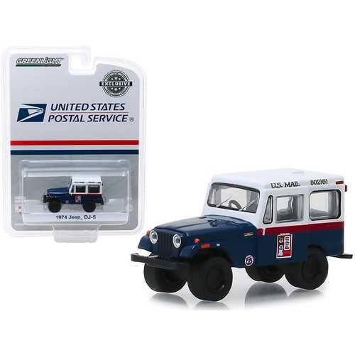 "1974 Jeep DJ-5 ""U.S. Mail Civil Defense"" ""Hobby Exclusive"" 1/64 Diecast Model Car by Greenlight"
