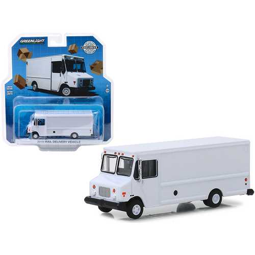 "2019 Mail Delivery Vehicle White ""Hobby Exclusive"" 1/64 Diecast Model by Greenlight"