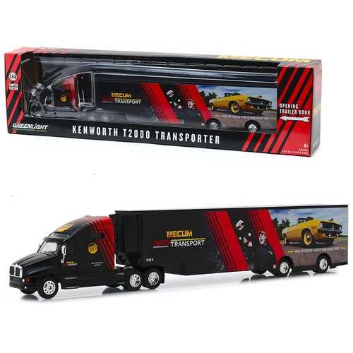 "Kenworth T2000 Mecum Auto Transport Transporter ""From the Auction Floor to Your Garage Door"" ""Hobby Exclusive"" 1/64 Diecast Model by Greenlight"