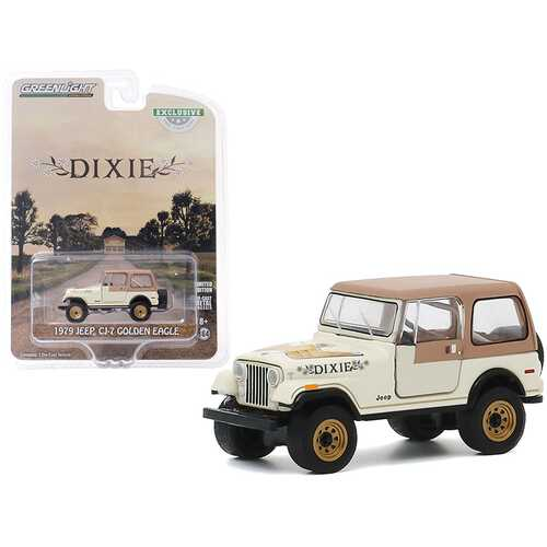 "1979 Jeep CJ-7 Golden Eagle ""Dixie"" Cream ""Hobby Exclusive"" 1/64 Diecast Model Car by Greenlight"