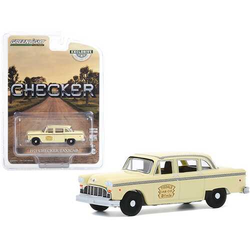 "1971 Checker Taxicab Yellow ""Tisdale Cab Co."" ""Hobby Exclusive"" 1/64 Diecast Model Car by Greenlight"