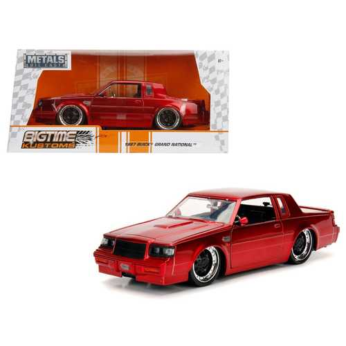 1987 Buick Grand National Candy Red 1/24 Diecast Model Car by Jada