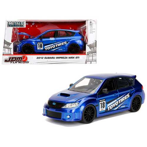 "2012 Subaru Impreza WRX STI Blue ""JDM Tuners"" 1/24 Diecast Model Car by Jada"