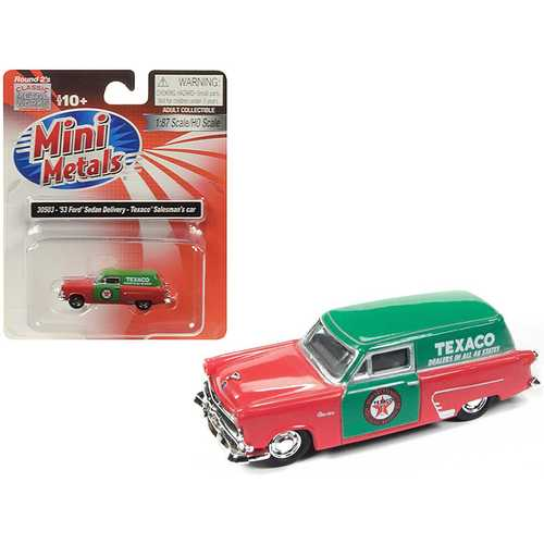 """1953 Ford Sedan Delivery """"Texaco"""" Salesman's Car 1/87 (HO) Scale Model Car by Classic Metal Works"""
