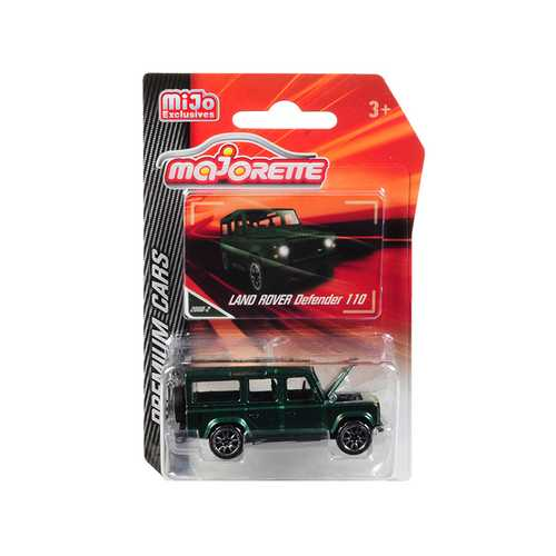 "Land Rover Defender 110 Metallic Green ""Premium Cars"" 1/60 Diecast Model Car by Majorette"