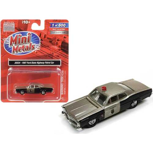 1967 Ford State Highway Patrol Car 1/87 (HO) Scale Model Car by Classic Metal Works