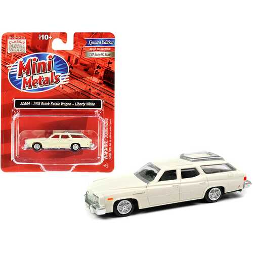 1976 Buick Estate Wagon Liberty White 1/87 (HO) Scale Model Car by Classic Metal Works