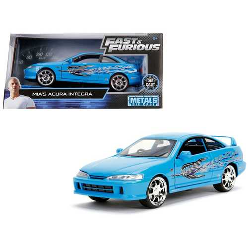 """Mia's Acura Integra RHD (Right Hand Drive) Blue """"The Fast and the Furious"""" Movie 1/24 Diecast Model Car by Jada"""