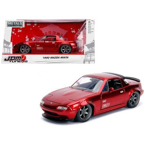 "1990 Mazda Miata ""Endless"" Candy Red ""JDM Tuners"" 1/24 Diecast Model Car by Jada"
