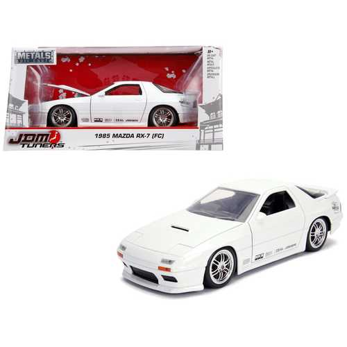 "1985 Mazda RX-7 (FC) White ""JDM Tuners"" 1/24 Diecast Model Car by Jada"