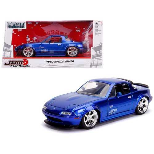 "1990 Mazda Miata ""Endless"" Candy Blue ""JDM Tuners"" 1/24 Diecast Model Car by Jada"