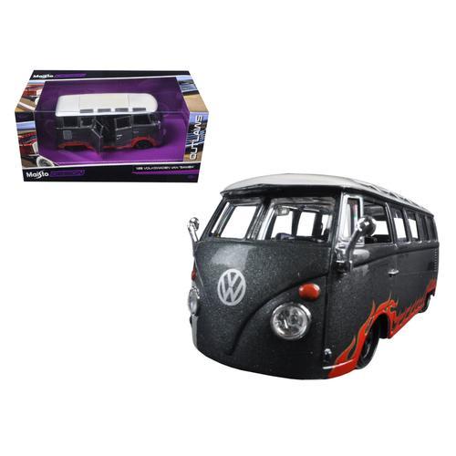 "Volkswagen Van Samba Grey ""Outlaws"" 1/25 Diecast Model Car by Maisto"
