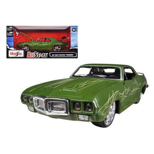 "1969 Pontiac Firebird Matt Green ""All Stars"" 1/24 Diecast Model Car by Maisto"