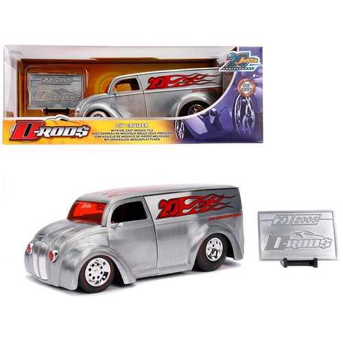 "Div Cruizer Van Metal Raw ""D-Rods"" ""Jada 20th Anniversary"" 1/24 Diecast Model Car by Jada"