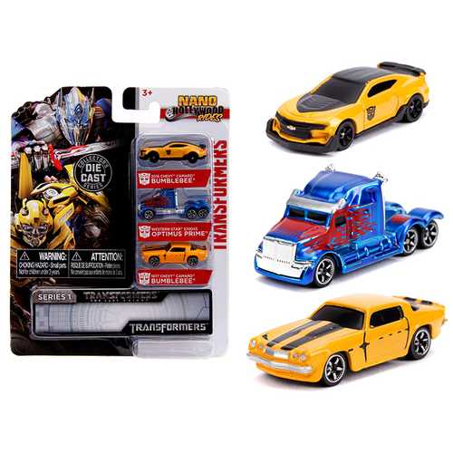 """Transformers"" 3 piece Set ""Nano Hollywood Rides"" Series 1 Diecast Models by Jada"