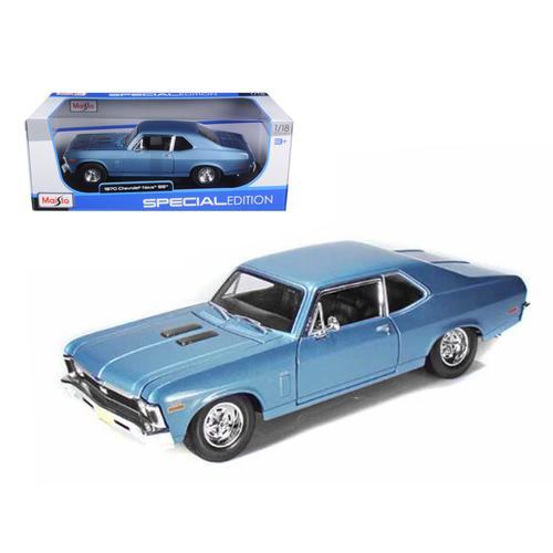 1970 Chevrolet Nova SS Coupe Blue 1/18 Diecast Model Car by Maisto