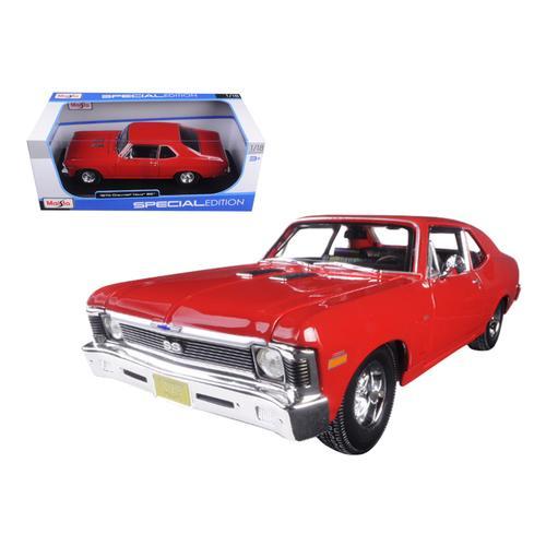 1970 Chevrolet Nova SS Coupe Red 1/18 Diecast Model Car by Maisto