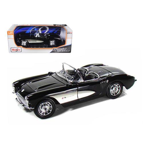 1957 Chevrolet Corvette Black 1/18 Diecast Model Car by Maisto