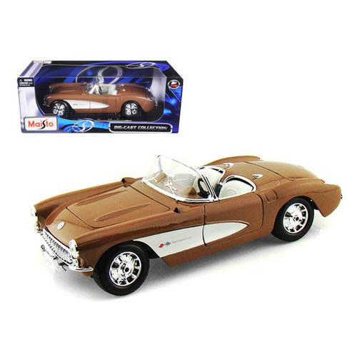 1957 Chevrolet Corvette Bronze 1/18 Diecast Model Car by Maisto
